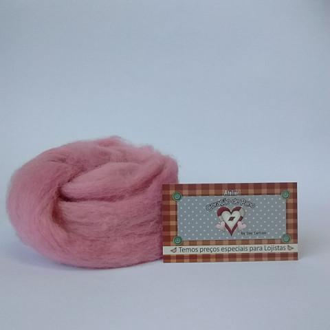 Lã de Feltragem - Rosa Pétala LF 10
