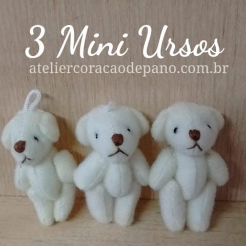 3 Ursos Pequenos Creme (2 x 4,5 cm)