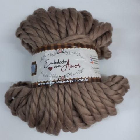 Lã Trançada - Castanho Claro