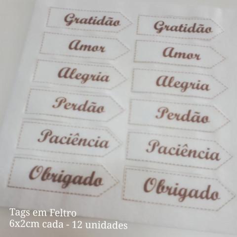 Tag Natal - 12 Feltro (6 x 2 cm)