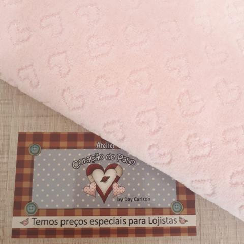 Plush - Rosa com coração - 50x80cm
