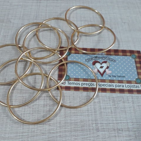 Argolas Douradas 10 un (5 cm)