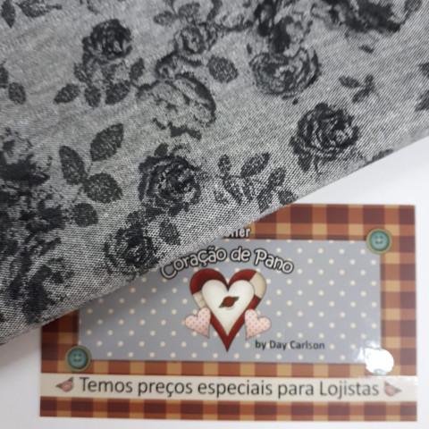 Jeans JS11 - Floral Cinza