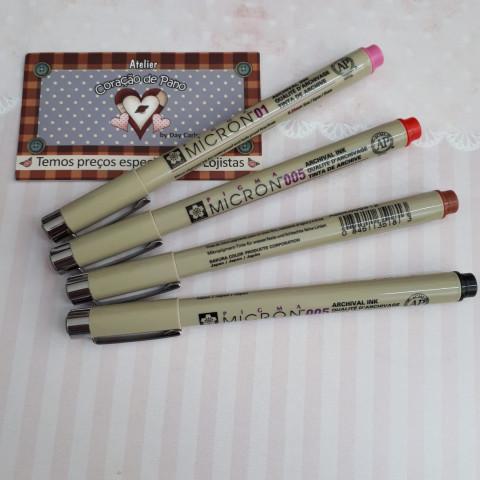 COMBO DE CANETA MICRON - 4 cores Para Rostinho de Bonecas