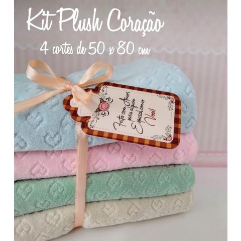 KIT PLUSH DE CORAÇÃO - 4 CORTES (50 X 80 CM)