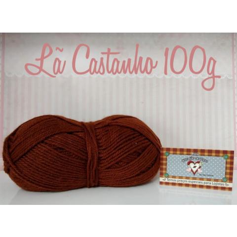 Lã Multiuso VI - CASTANHO (100g)