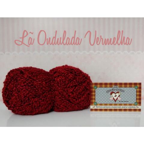Lã Multiuso Ondulada IV - Vermelha