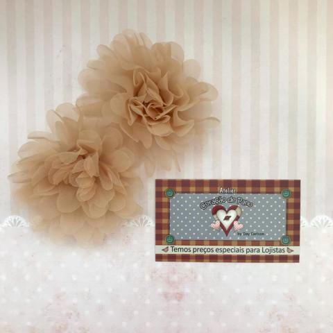 Flor Decorativa Bege 9cm - (2UN)
