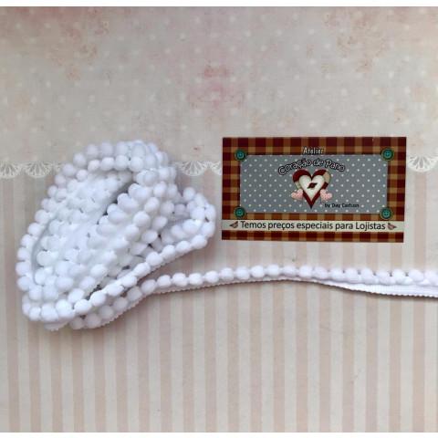 Mini Pompom (grelot) - Branco