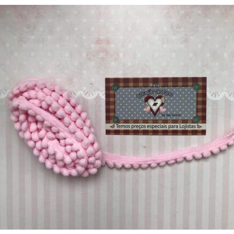 Mini Pompom (grelot) - Rosa Claro