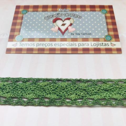 RN55 - Renda de Algodão Verde Musgo - (2cm)