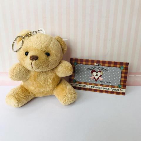 Chaveiro Urso fofo Bege  - 10 x 6,5cm