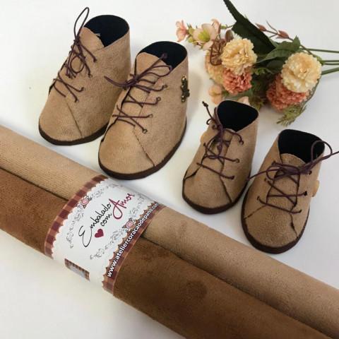 Camurça para Sapatos - 2 CORTES (50 X 34) Tons Caramelo