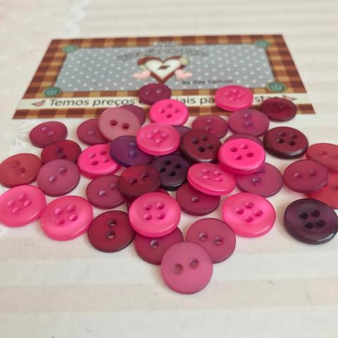 Botão Tons de Rosa - 40 unidades