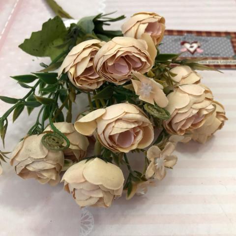 Flor Permanente MINI ROSAS - Creme Vintage