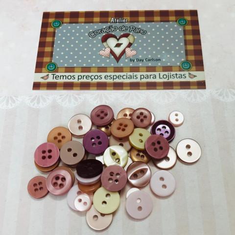 Botão Colorido - Vintage - 40 unidades