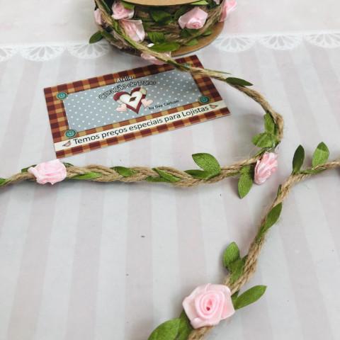 Fio de Sisal Decorado - Flores e Folhas - RL(3MT)