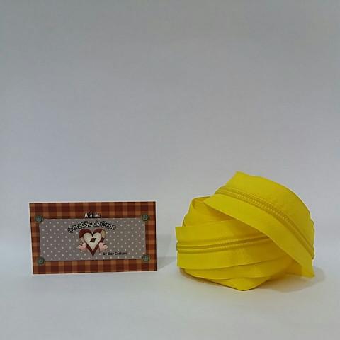 Ziper nº5 - 2 metros - Amarelo