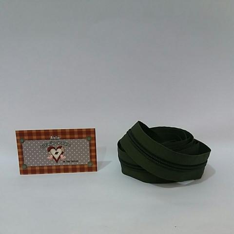Ziper nº5 - 2 metros - Verde Musgo