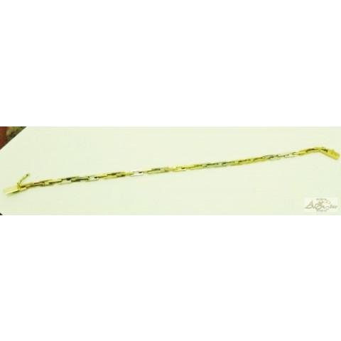 Pulseira cadeado em ouro 18K - PU009
