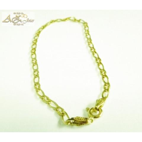 Pulseira masculina cadeado em ouro 18K - PU010