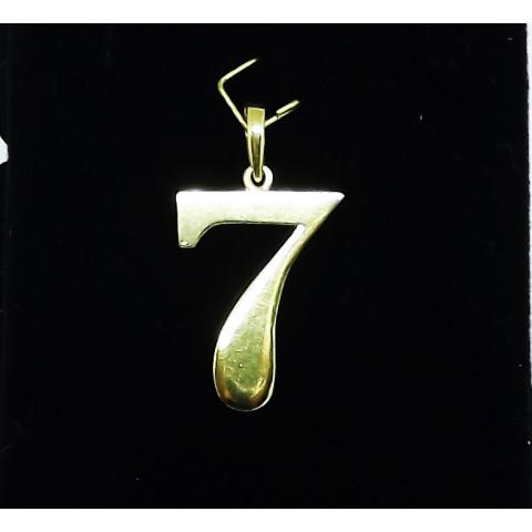 Pingente Número 7 em Ouro 18K - PG027