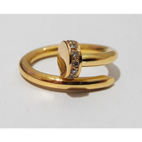 Anel Prego em Ouro Amarelo 18K - AN044