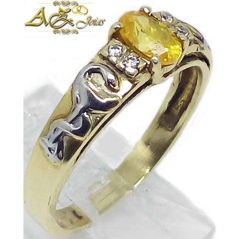 Anel de Formatura feminino em ouro 18K - ANF024