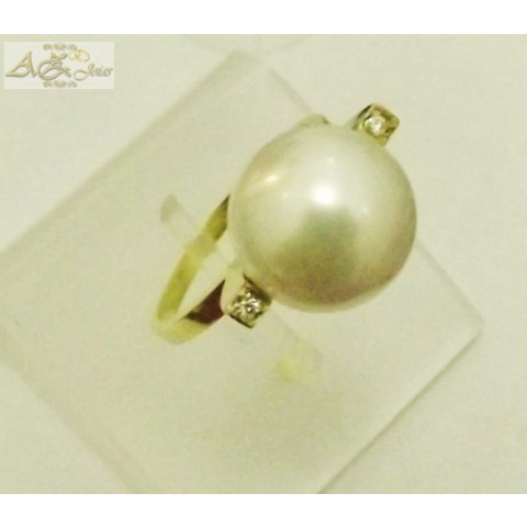 Anel de Pérola em ouro amarelo 18K - AN012