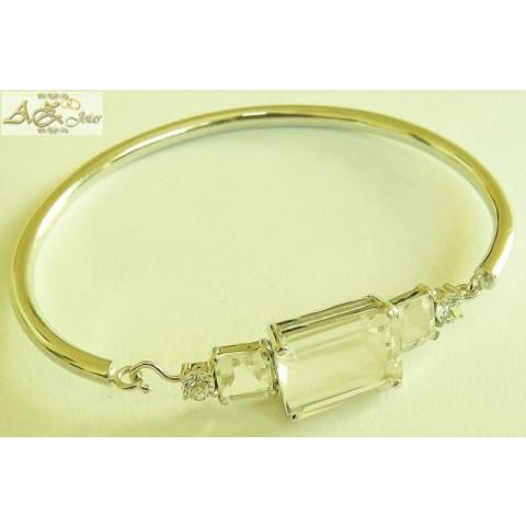 Bracelete com pedras em ouro 18K - PU012