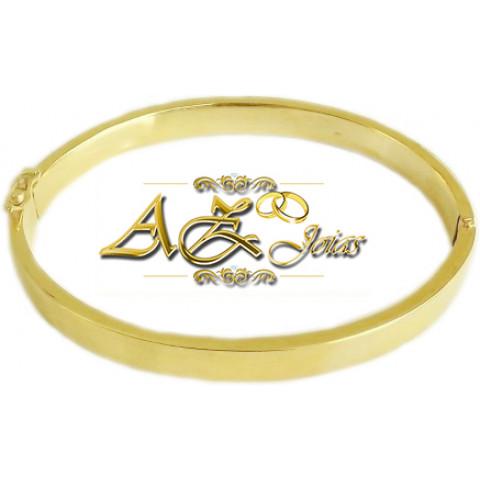 Bracelete masculino em ouro amarelo 18K - PU011