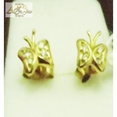 Brinco borboleta em ouro 18K - BR003