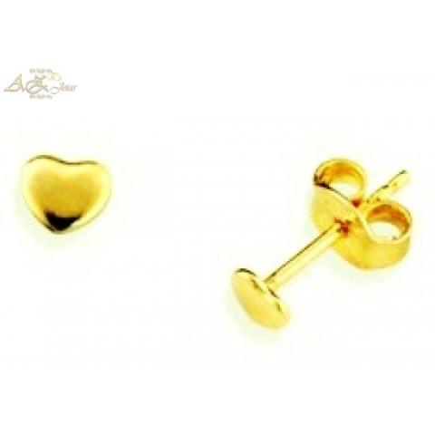 Brinco coração em ouro 18K - BR019