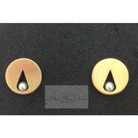Brincos com Perolas em ouro 18K - BR023