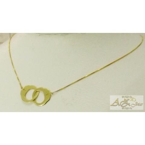 Cordão algema em ouro amarelo 18K - CO020