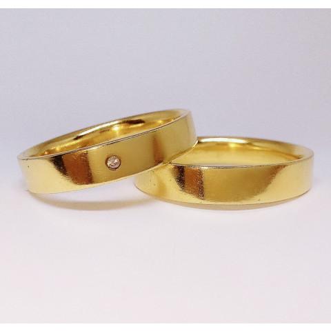 Par de Alianças em Ouro 18K - AL245