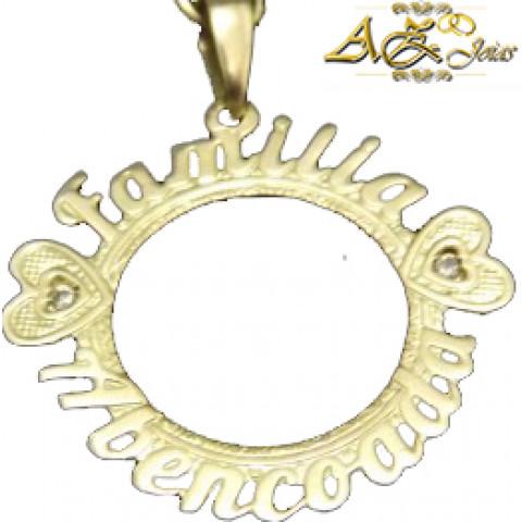 Pingente Família Abençoada em ouro 18K - PG023