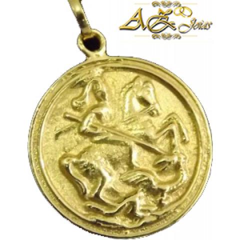 Pingente São Jorge em ouro amarelo 18K - PG020