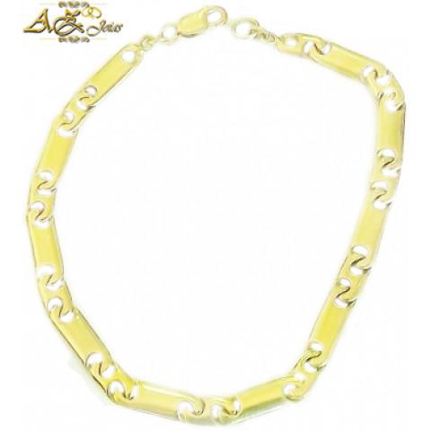 Pulseira masculina em ouro amarelo 18K - PU003