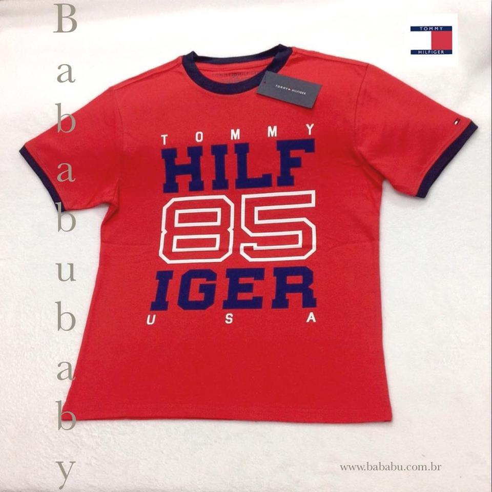 42beadf507a9 Camiseta Tommy Hilfiger - 8/10 anos - R$ 109,90 - Nome da Loja Virtual