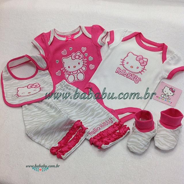 75e42476e Conjunto 5 pecas - Hello Kitty - R$ 99,90 - 0-3 meses - Nome da Loja Virtual