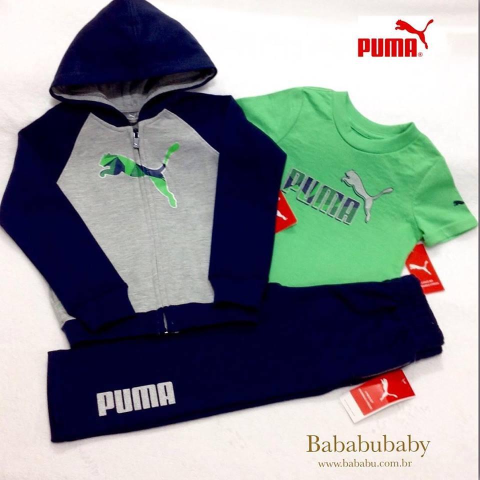 bd2fbc369a5 Conjunto 3 pecas - Moletom Puma - 24 meses - R  169