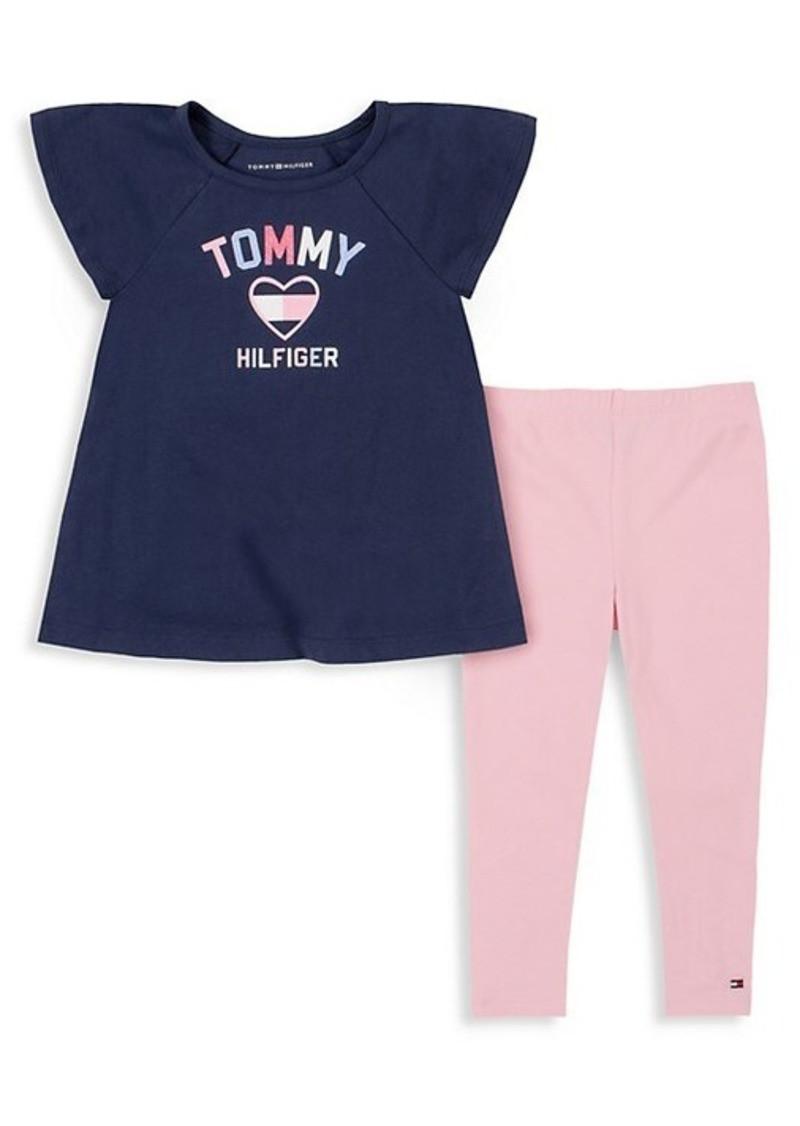 Conjunto Tommy Hilfiger - 24 meses - R$ 169,90 marinho e rosa
