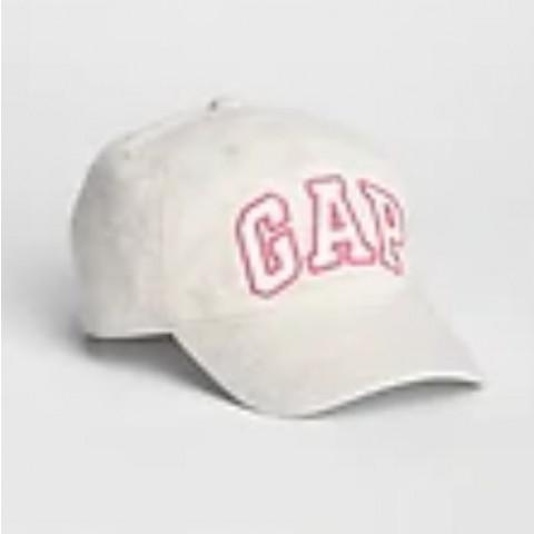 Boné GAP - 2 a 5 anos - R$ 89,90 bege com detalhes pink