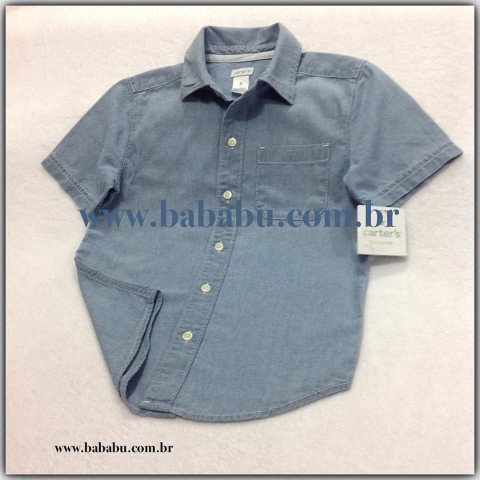 Camisa Carters Jeans - 5 anos - R$ 79,90