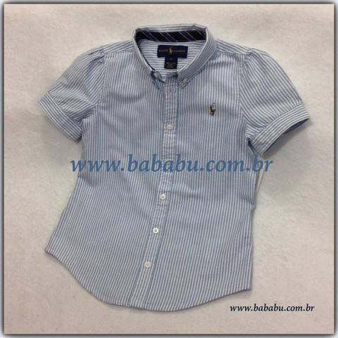 7287384a12a Camisa Feminina RALPH LAUREN 5 anos - R  149