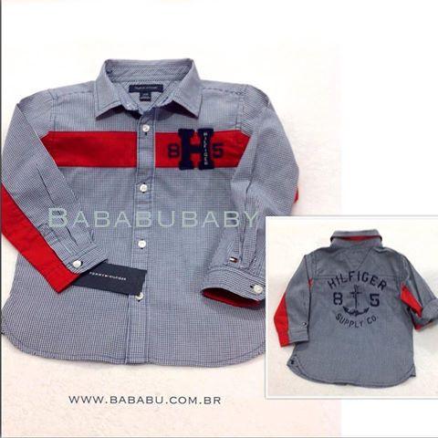 Camisa TOMMY HILFIGER  6-9 meses - R$ 129,90