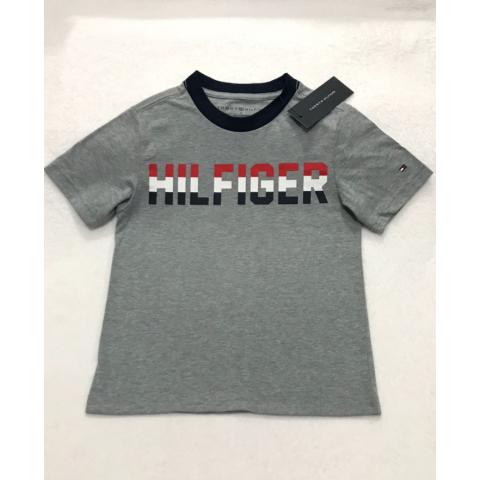 Camiseta TOMMY HILFIGER - 4 anos - R$ 109,90 cinza
