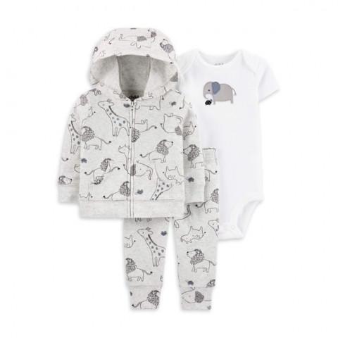 Conjunto Carters Child of mine Malha - 3 pecas - 0/3 meses - R$ 119,90 safari