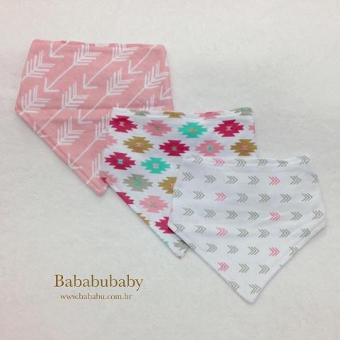 Kit 3 babadores bandana - R$ 59,90